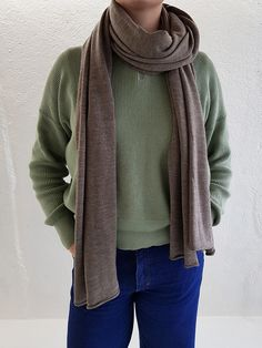 Made in Italy by a master knitter for the worlds leading fashion houses, our XL Merino wool scarves use the finest quality wool yarns from Loro Piana Grey Stone, Natural Brown, Fine Men, Wool Scarf, Merino Wool, Heather Grey, Scarves, Knitting, Xmas