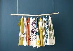 Decorative Hanging Kitchen Towels to Enhance Kitchen Visual