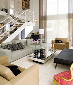 Modern Interior Design. Living room. Mirror Furniture.