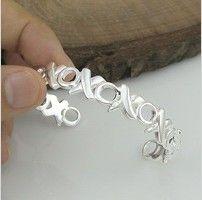 EVYSSZ (45) New Europe style Wholesale fashion jewelry silver X O cuff bracelet bangle for women trendy jewelry nice gift