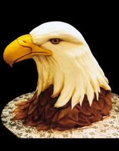 Absolutely Stunning 3D American Bald Eagle Birthday Cake→Mike's Amazing Cakes.
