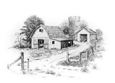 drawings of old barns - Google Search