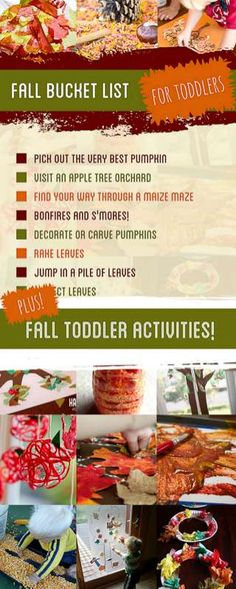 Before your toddler isn't a toddler anymore, these Fall activities for toddlers…