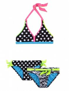 cute suit for laila 3 PIECE ZEBRA DOT BIKINI SWIMSUIT | GIRLS SWIMSUITS SWIMWEAR | SHOP JUSTICE