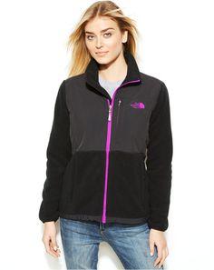 b8cc2ed21 The North Face Denali Fleece Women's Tnt Jacket Black Purple Logo - Jordamo  - Premium West Palm Beach Clothing Outlets