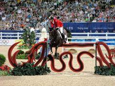 Les chevaux de sports - Hickstead - Hickstead et Éric Lamaze en compétition en 2008