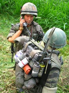 A selection of photos of 1/6th (12 inch) action figures, from various on-line stories and comic strips, from the mid-90's to the early 21st Century.