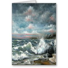 Seascape Design Greeting Card