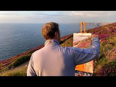 Plein Air and Studio Painting : St Agnes Head Cornwall - YouTube