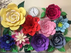 First time giant paper flower project