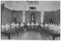 Raadhuis Cheribon 1931 : Raadzitting.