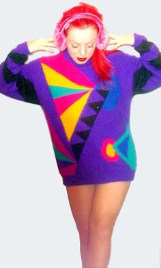 oh my- I think I had this sweater in the 80's to pair with my neon leggings or hammer pants