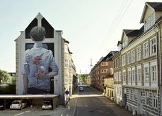 Giant Comical Mural by BEZT in Denmark