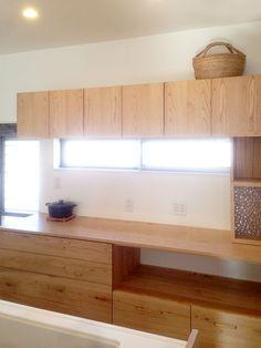 オーダー家具・食器棚、カップボード Kitchen Board, Kitchen Pantry, Kitchen Storage, Kitchen Dining, Japan Room, My Home Design, Japanese Interior, House Made, Kitchen Interior