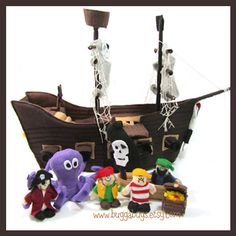Pirate Ship - a PDF Pattern by Bugga Bugs! Perfect for boys!