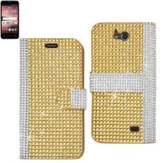 Reiko Diamond Flip Case Zte Overture 2 Gold Gold