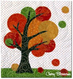 Cherry blossoms- quilting studio