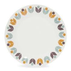 Porseleinen dessertbord met bloemmotief D 20 cm MIMOSA