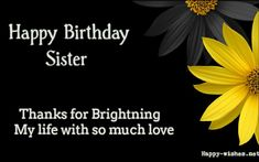Beautiful Happy Birthday sister images with beautiful Black Background images