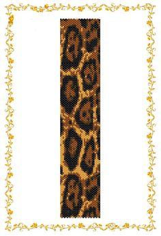 Peyote beading pattern Bracelet Leopard . Instant by HoneyPear
