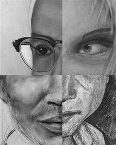 FRAGMENTED PORTRAIT. Lesson: http://www.bcsc.k12.in.us/Page/8958