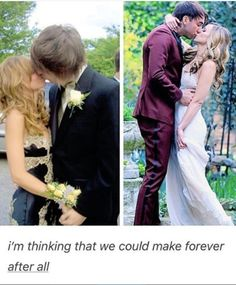 To make it even more adorable, they got married 12 years after their senior prom❤️So freakin cute❤️