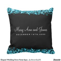 Shop Elegant Wedding Favor Party Sparkles Turquoise Throw Pillow created by Personalize it with photos & text or purchase as is! Turquoise Throw Pillows, Elegant Wedding Favors, Wedding Pillows, Custom Pillows, Party Favors, Sparkles, Fabric, Ideas, Tejido