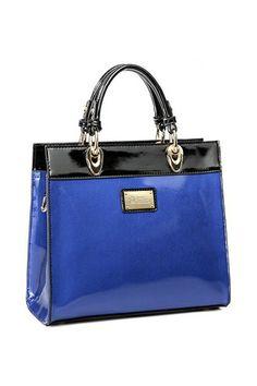 Crystal Cross Pattern Color Block Handbags In Blue persunmall.com