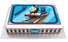 I've seen this cake in person - hot off the cake icing table in Melbourne. Magnificent in real life. Thomas the Tank Engine cake Toot Toot