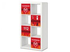 Feuerwehr Aufkleber für Regal EXPEDIT / KALLAX von IKEA - ER30