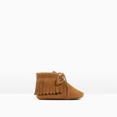 Image 1 of FRINGED LEATHER BOOTS from Zara