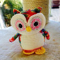 Nelson the Rainbow Owl (FreshStitches)