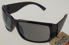 Foster Grant Beach Blast Sunglasses Black Plastic 100% UVA UVB 64-18-125 NEW Tag