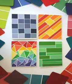 Paint Chip Greeting Cards (put a glossy coat over it)