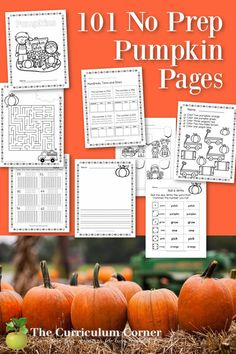 Add these free pumpkin no prep pages to your fall printables for skill practice. Fall Preschool Activities, Preschool Math, Curriculum, Homeschool, Tens And Ones, Word Sorts, Uppercase And Lowercase Letters, Addition And Subtraction, Lower Case Letters