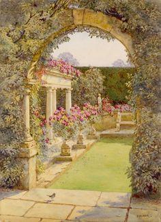 Edith Helena Adie 1865-1947: The Fountain Court, Dyffryn