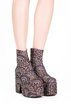 0adb9d60ae1a Jeffrey Campbell Shoes IPKISS-FB New Arrivals in Purple Fan Tapestry Please  And Thank You