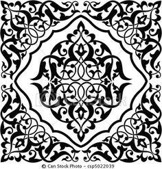 Vetor - arabesco, azulejo - estoque de ilustração, ilustrações royalty free, banco de ícone clip arte, banco de ícones clip arte, fotos EPS, fotos, gráfico, gráficos, desenho, desenhos, imagem vetorial, arte vetor EPS.