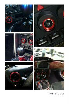 Carbon Fiber Interior Shift SHIFTER Surround Frame Cover Overlays for 2012-2016 GT GT86 BRZ Scion 1