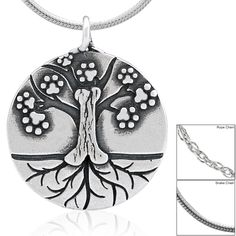 Paw Tree of Life Sterling Necklace at The Animal Rescue Site