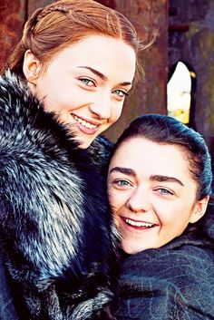 "petyrbaelishs: ""Entertainment Weekly reunites th. petyrbaelishs: ""Entertainment Weekly reunites the Stark sisters for their May 2017 issue "" Dessin Game Of Thrones, Game Of Thrones Sansa, Game Of Thrones Facts, Game Of Thrones Funny, Game Of Thrones Characters, Entertainment Weekly, Winter Is Here, Winter Is Coming, Jon Snow"