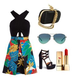 """""""Untitled #6"""" by gaby7777 ❤ liked on Polyvore featuring Alice + Olivia, Tiffany & Co., Aquazzura and Yves Saint Laurent"""