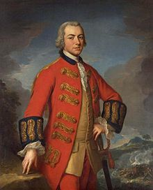 Sir Henry Clinton. Portrait attributed to Andrea Soldi, painted circa 1762–1765