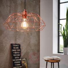 """#Hängeleuchte Carlton im """"Käfig""""-#Design und mit glanzvollem Kupferfinish. Ein edles Raum-#Highlight!"""