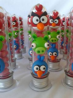 Angry Birds - tubete Cumpleaños Angry Birds, Festa Angry Birds, Homemade Clay, Bowling Party, Fimo Clay, Pasta Flexible, Clay Dolls, Cold Porcelain, Clay Art