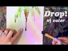 That DROP! Palm-tree watercolor painting tutorial - YouTube