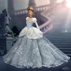 Disney Princess Dolls, Cinderella Disney, Disney Dolls, Disney Princesses, Barbie I, Barbie And Ken, Barbie Clothes, Art Nouveau Disney, Disney Inspired Fashion