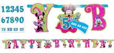 Minnie Mouse Letter Banner 10 1/2ft (5.99)
