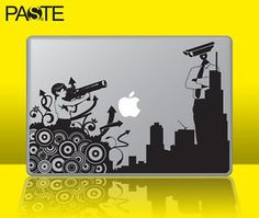adesivo macbook spara cctv | ebay Mac Stickers, Macbook, Laptop, Pac Man, Ebay, Stickers, Laptops