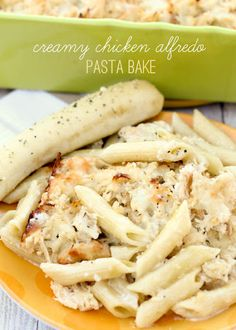 Creamy Chicken Alfredo Pasta Bake Recipe on Yummly. @yummly #recipe